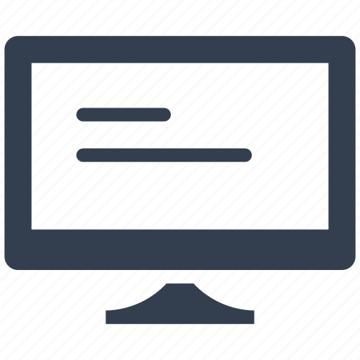 article, computer, media, monitor, news, office, screen icon