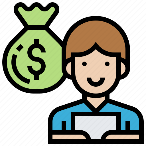 briber, criminal, money, news, reporter icon