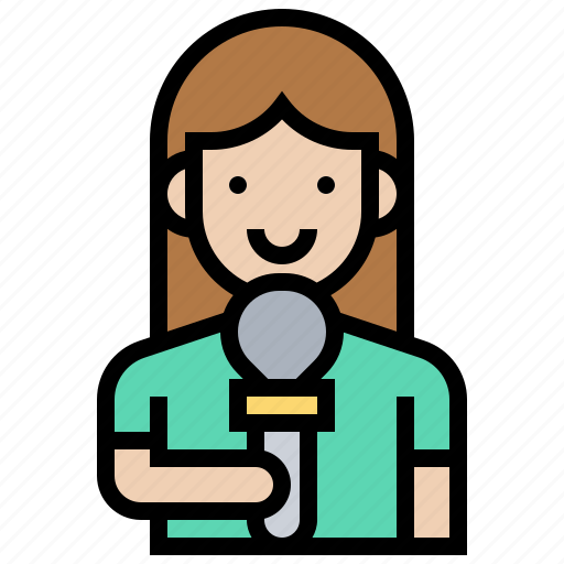 Announcer, broadcaster, journalist, newscaster, press icon - Download on Iconfinder