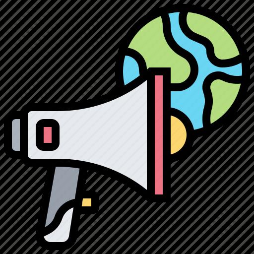 Advertisement, broadcast, global, international, loudspeaker icon - Download on Iconfinder