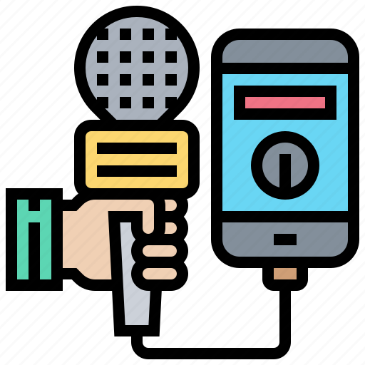 Mass, media, microphone, mobile, phone icon - Download on Iconfinder