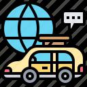 broadcast, communication, news, reporter, van