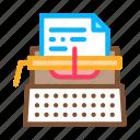 de, equipment, paper, retro, type, typewriter, writer