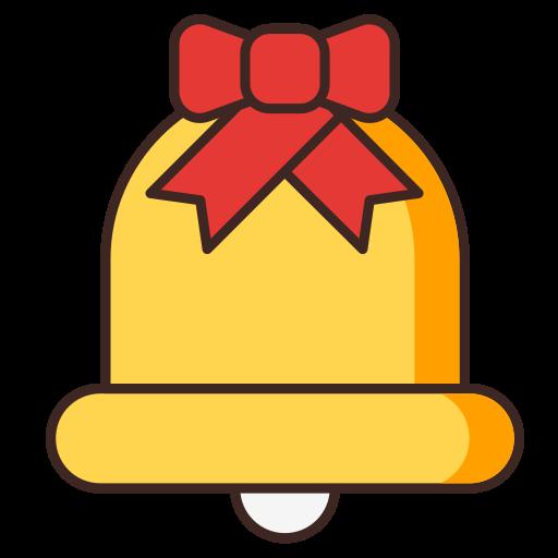 bell, christmas, church, ribbon, ring icon