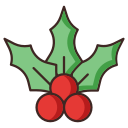 cherry, mistletoe, christmas