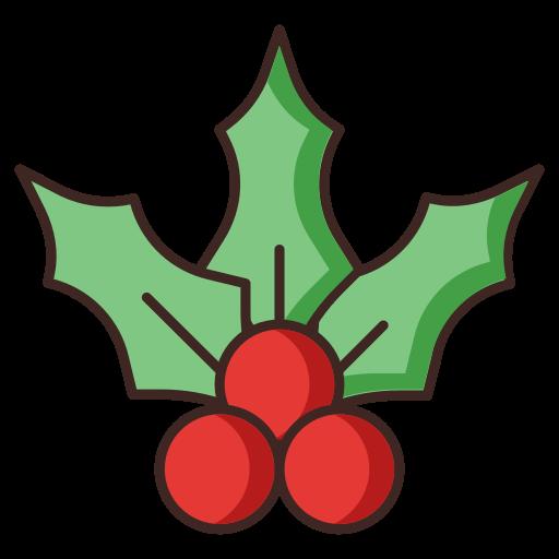 cherry, christmas, mistletoe icon