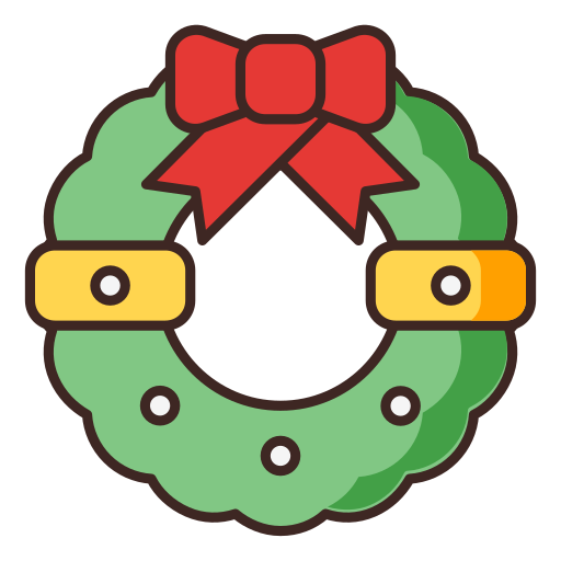 christmas, decoration, ornament, ribbon icon