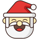 christmas, claus, santa, santa hat icon