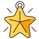 christmas, christmas tree, star icon
