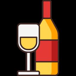 christmas, wine, wine bottle, wine glass icon