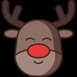 animal, deer, rudolph, santa claus icon