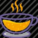 beverage, cup, drink, glass, hot, juice, orange
