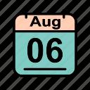 aug, august, calenda, su icon