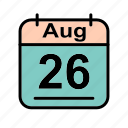 aug, august, calendar, date, sa, schedule icon icon