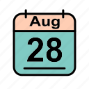 aug, august, calendar, date, mo, schedule icon icon