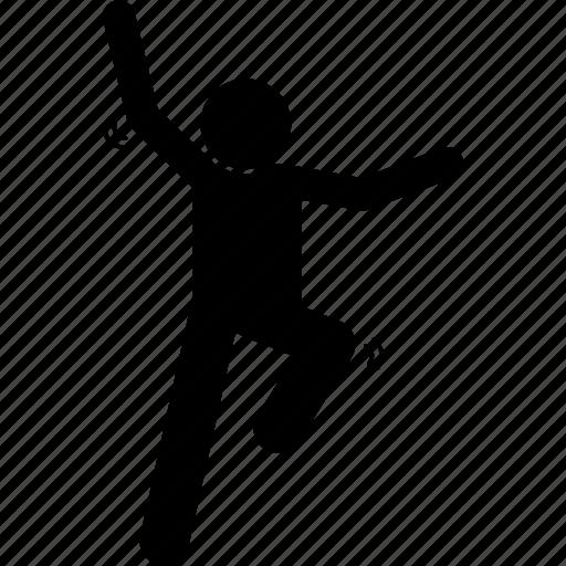 happy, jump, jumping, man, success, up, win icon