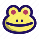 amphibian, animal, face, frog, froggy, toad icon