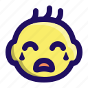 baby, child, cry, face, infant, kid icon