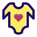baby, clothes, garment, romper, shirt icon