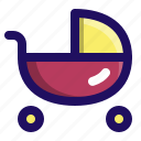 baby, child, infant, sleeping, stroller icon
