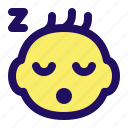 baby, child, face, infant, kid, sleep icon