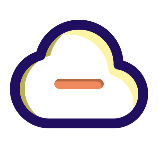 cloud, computing, data, minus, remove, server icon