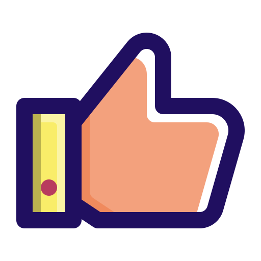 Like, approve, thumb, hand, up icon