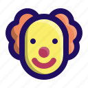 birthday, circus, clown, face, party, smile icon