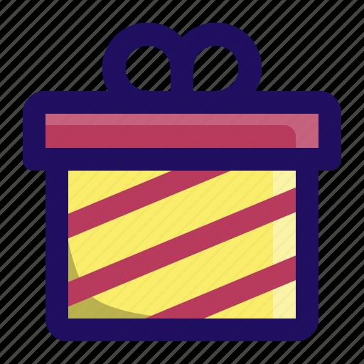 birthday, box, gift, give, present, wrap icon