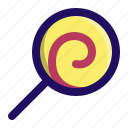 candy, food, lollipop, spiral, sugar, sweet icon