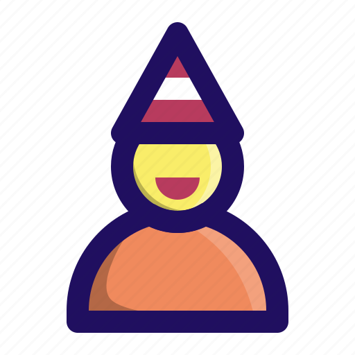 birthday, celebrate, hat, man, party, person icon