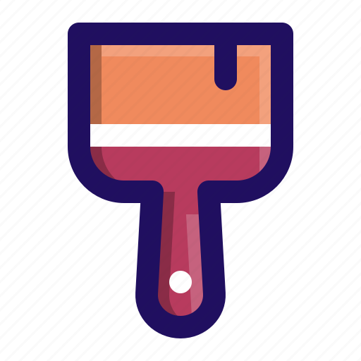 brush, builder, construction, paint, painting, tool icon
