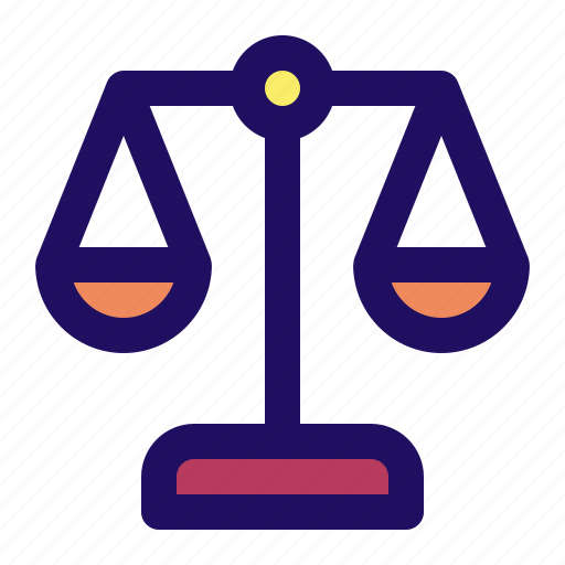 balance, equal, justice, law, scale, weigh icon
