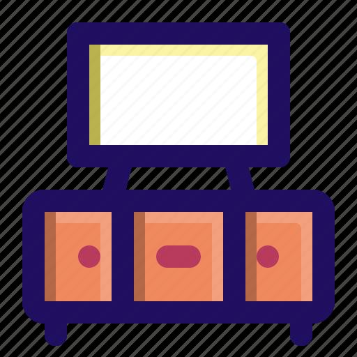 cabinet, credenza, furniture, shelf, tv icon
