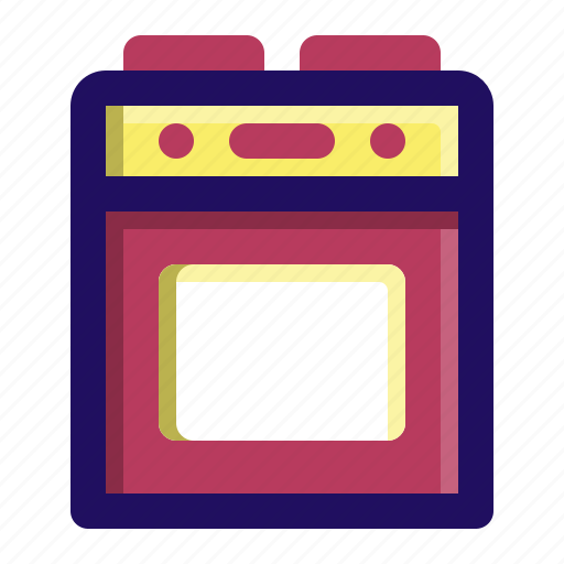 cook, cooking, kitchen, oven, range, stove icon