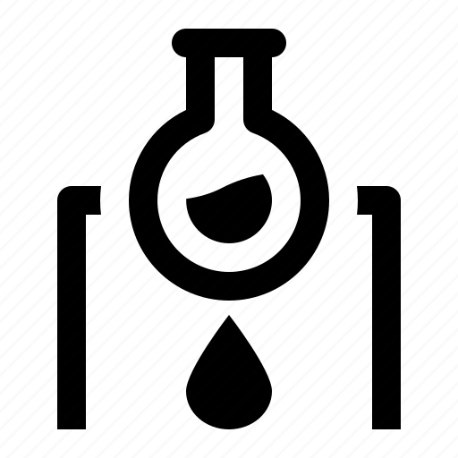 chemistry, experiment, fire, flask, heating, laboratory icon