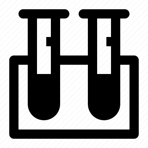 beaker, lab, laboratory, science, test, tube icon
