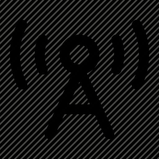 antenna, communication, radio, signal, tower, wireless icon