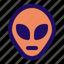 alien, face, space, ufo icon