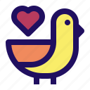 bird, love, romance, valentine, wedding icon