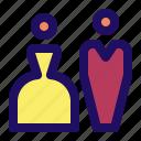 dress, marriage, tuxedo, wedding icon