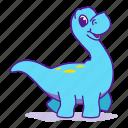 animal, cute, dino, dinosaur, jurassic, mascot icon
