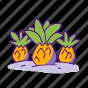 fruit, jurassic, landscape, pineapple, plant