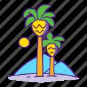 desert, jurassic, landscape, palm