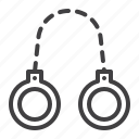 arrest, chain, crime, handcuffs icon