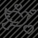 bird, dove, love, pigeon, heart, romantic