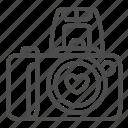 camera, photo, photography, heart, lens