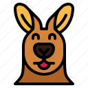 kangaroo, happy, animal, mammal, head