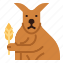 kangaroo, animal, leaf, mammal, macropus