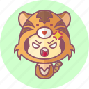 animal, avatar, costume, cute, kawai, tiger